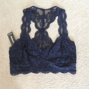 NWT Express Navy Lace Bralette